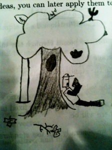 Robot Under Tree