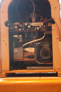 Back of radio