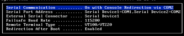 Serial System Setup Settings